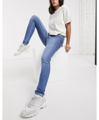 Dr Denim Moxy super high rise skinny jean in blue