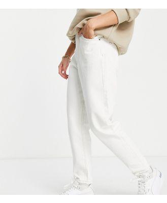 Dr Denim Petite Nora high rise mom jeans in ecru-White