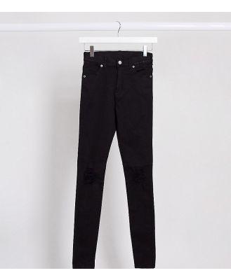 Dr Denim Tall Lexy mid rise super skinny jeans-Black
