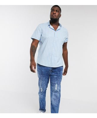 Duke plus couture jean with rips-Blue