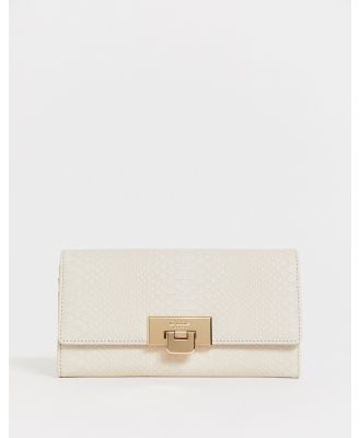 Dune large snake effect buckle detail foldover purse - Multi