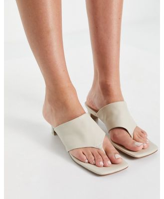E8 by Miista Christy toe thong heeled mules in ivory-White