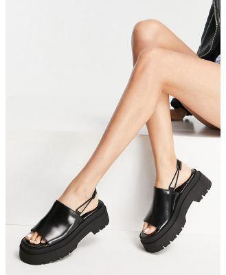 E8 by Miista Noreen chunky elastic back sandals in black