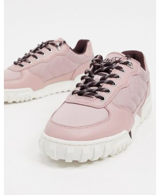 Ellesse Tanker quilted cupsole trainers in pink