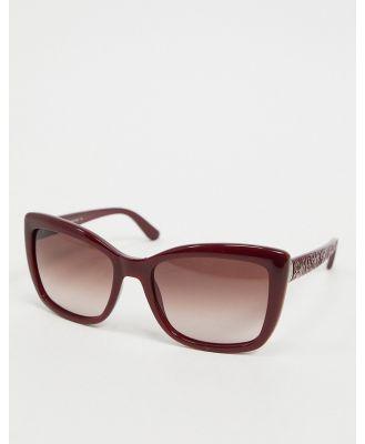 Etro square sunglasses in red
