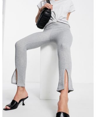 Fashionkilla fitted trackies with split in grey
