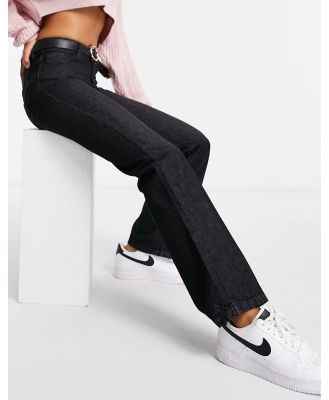 Femme Luxe high waist slim flares in washed black