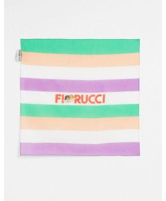 Fiorucci retro style bandana scarf with logo-Multi