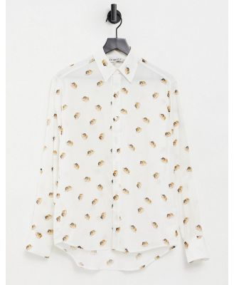 Fiorucci vintage angels all-over logo shirt in white