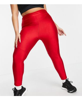 Flounce London Plus gym leggings with bumsculpt in red
