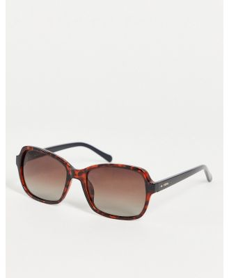 Fossil 3095/S square lens sunglasses-Black