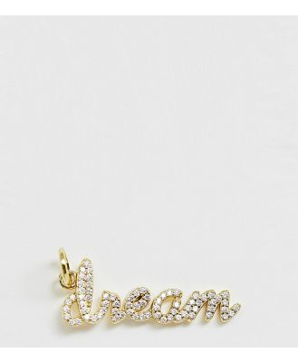 Galleria Armadoro gold plated pave 'dream' necklace charm
