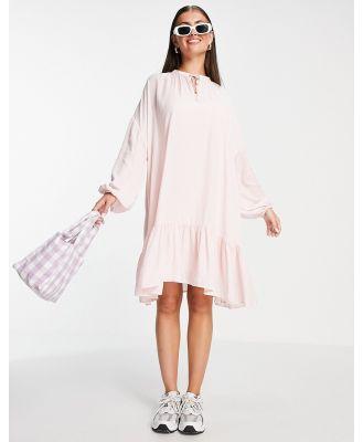 Gestuz Nath mini smock dress in pink
