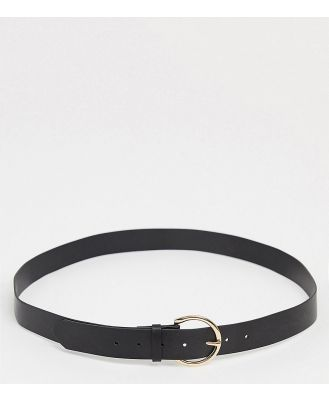 Glamorous Curve waist and hip belt in black with gold minimal round buckle