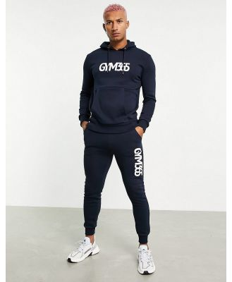 Gym 365 jersey tracksuit in navy