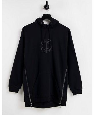 GymPro Apparel longline hoodie in black