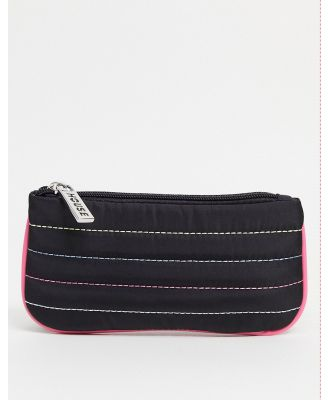 House of Holland purse bag with rainbow stitching in black