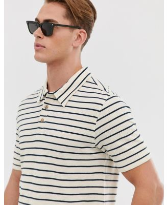 Hymn striped polo shirt - Navy