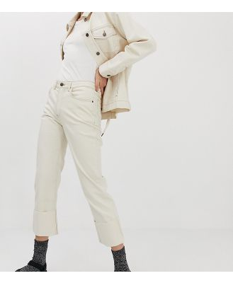 Iden Denim Sylvia relaxed striaght leg jean with turn-up co-ord - White