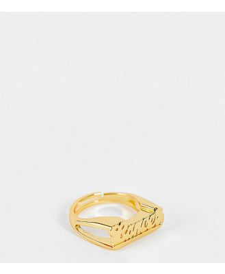 Image Gang adjustable Cancer horoscope ring in gold plate
