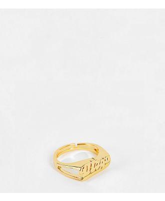 Image Gang adjustable Virgo horoscope ring in gold plate