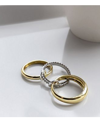 Image Gang eternity ring x 3 in gold plate