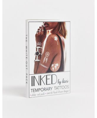 INKED by Dani White-Out Temporary Tattoo Pack-No colour
