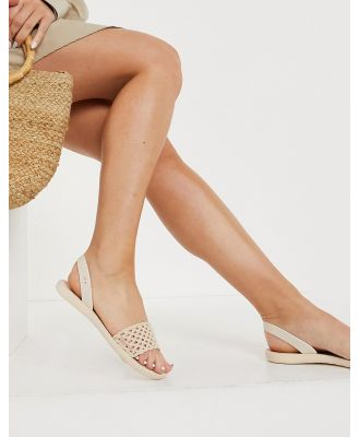 Ipanema Breezy two part sandals in ivory-White