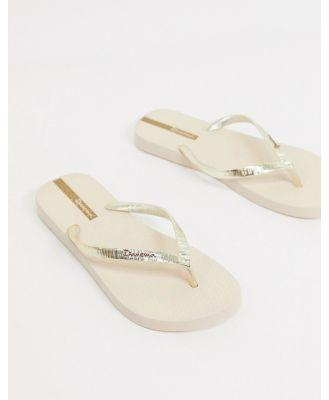 Ipanema glam flip flops in beige-Neutral