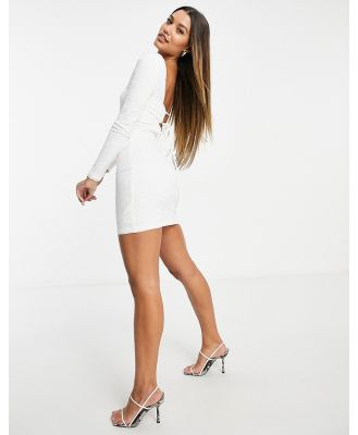 Ivy Revel lace dress with tie back in white