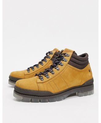 Jack & Jones leather hiking boot in tan