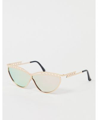 Jeepers Peepers cats eye sunglasses in gold