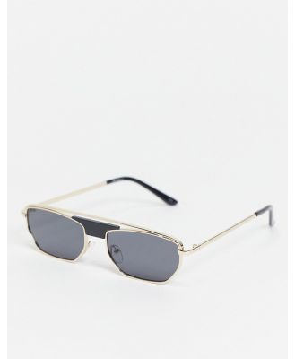 Jeepers Peepers unisex metal square sunglasses in gold