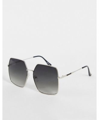 Jeepers Peepers women's square sunglasses in silver