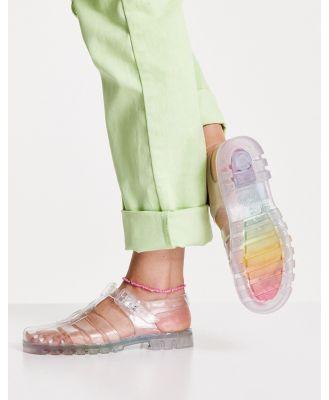 Juju Jelly flat jelly shoes in rainbow multi