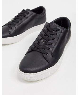 Kenneth Cole kam lace up sneakers in black leather