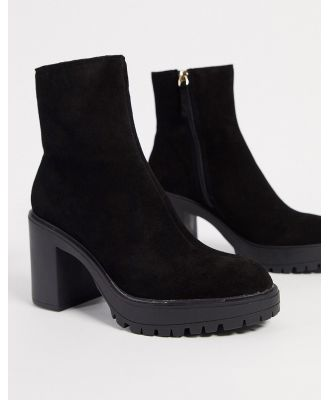 KG by Kurt Geiger tommy chunky heeled ankle boots in black suede