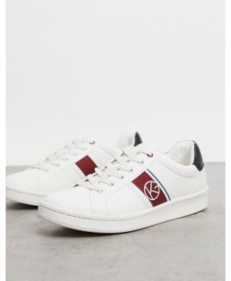 KG Kurt Geiger wheeler side stripe sneakers in white and red