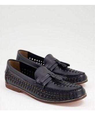 KG Kurt Geiger wide fit blake tassel loafers in black