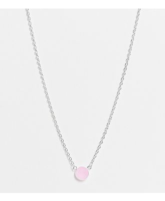 Kingsley Ryan necklace in sterling silver with pink quartz