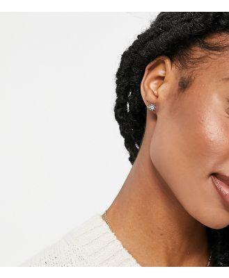 Kingsley Ryan single piercing crystal earring in silver