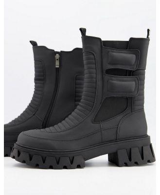 Koi footwear vegan-friendly chunky biker boots in black