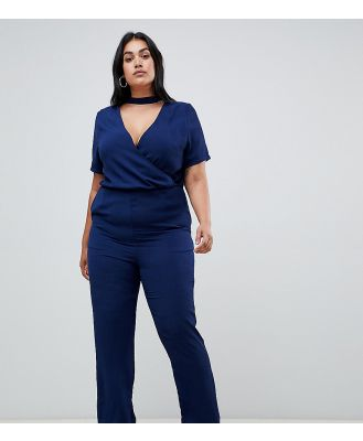 Koko wrap jumpsuit - Navy