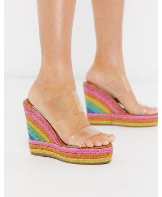 Kurt Geiger London Ariana rainbow wedge mule sandal-Multi