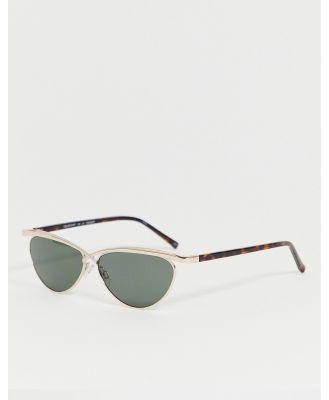 Le Specs teleport ya round sunglasses in silver