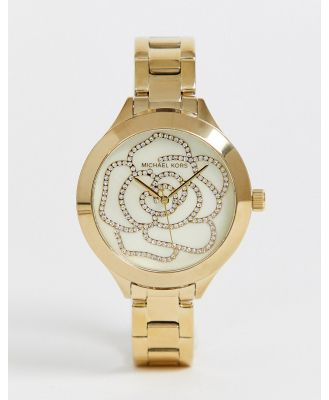 Michael Kors ladies slim runway watch MK3992-Gold