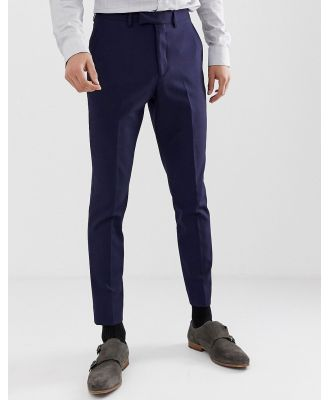Moss London muscle fit suit pants in navy