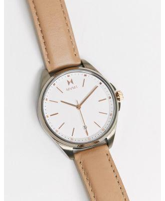 MVMT leather strap watch-Brown