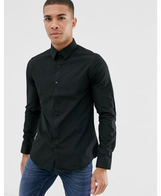 New Look poplin shirt in regular fit in black