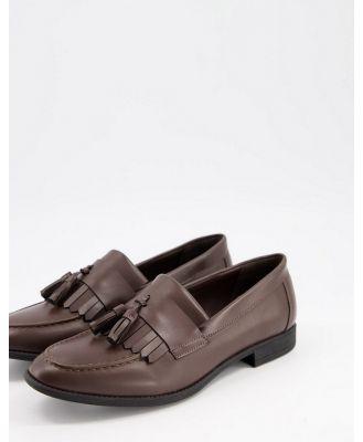 New Look tassel loafer in dark brown